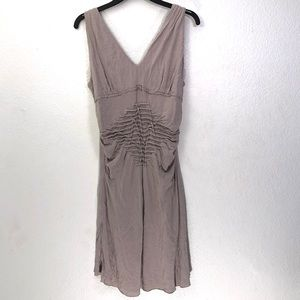 Mystree Intricate Cutout Neutral Tank Dress